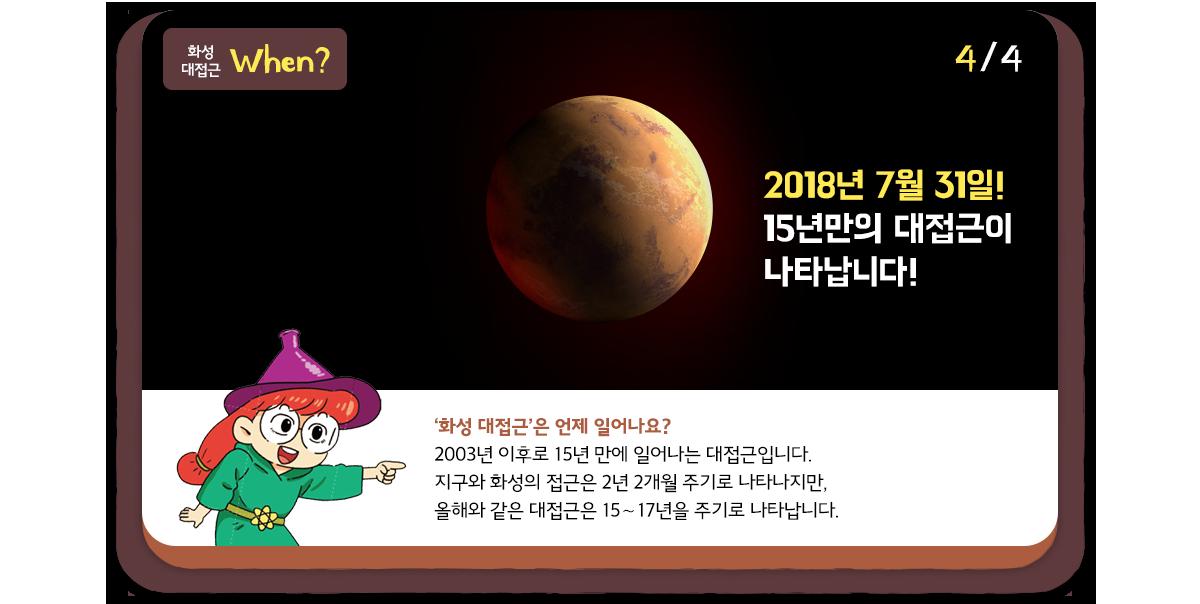 화성대접근 When?