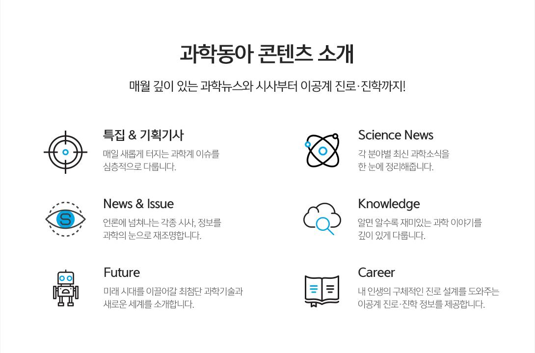 과학동아 콘텐츠 소개