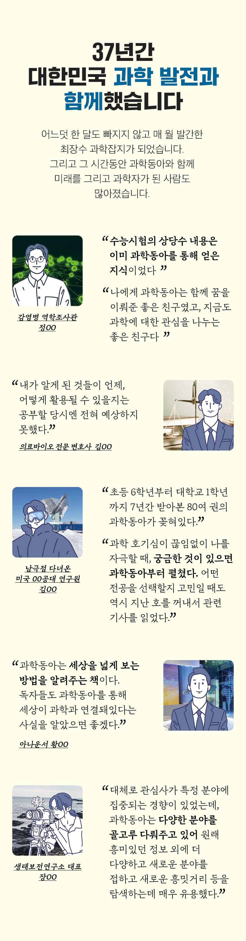 36년간 대한민국 과학 발전과 함께했습니다.