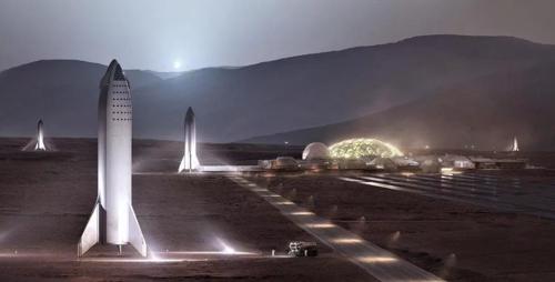 스페이스X의 화성여행 개념도