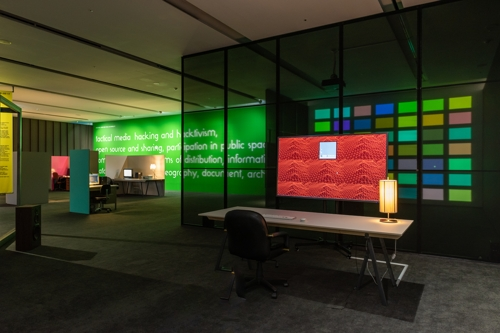 서울시립북서울미술관서 열리는 '웹-레트로' 전경