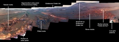오퍼튜니티호가 전송한 황량한 화성 표면