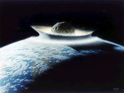 소행성 지구충돌 상상도