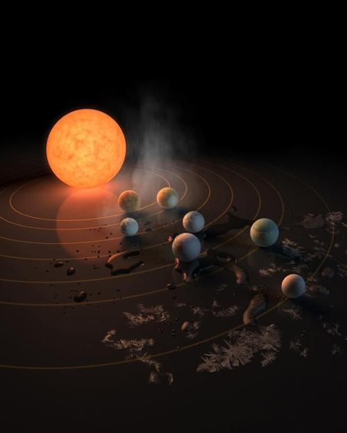 트라피스트-1 행성계 상상도