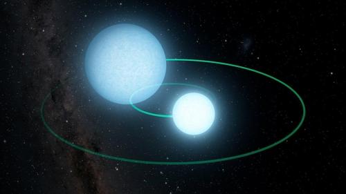백색왜성 이중성계 'ZTF J1539+5027' 상상도