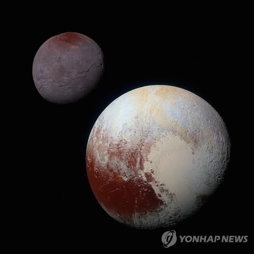 명왕성(오른쪽)과 제1위성 카론