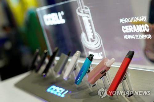 진열된 전자담배 제품