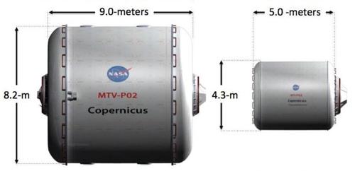 표준 주거 모듈과 동면 모듈 비교