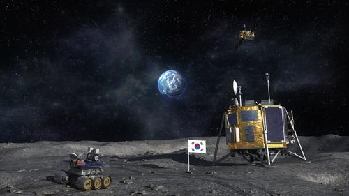 한국 달 탐사 착륙선과 로버 상상도