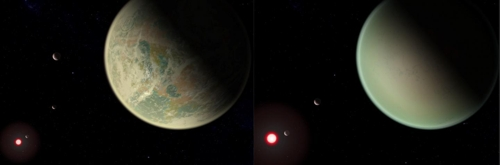 대기 중 산소를 가진 외계행성 상상도