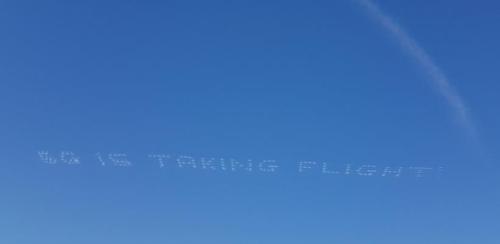 라스베이거스 하늘 수놓은 '5G가 비상한다'