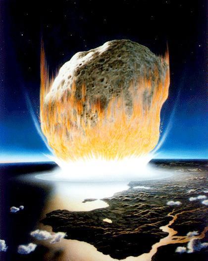 소행성 충돌 상상도