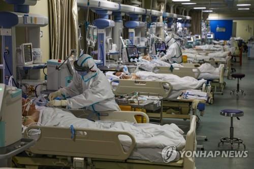 중국 후베이성 우한 병원의 집중치료병동