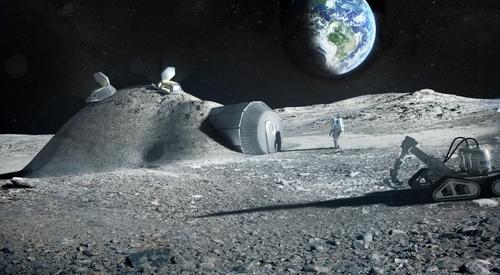 미래의 달 기지 상상도