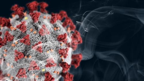 코로나19 바이러스와 담배 연기