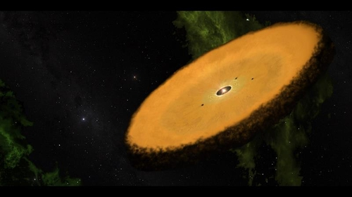 적색왜성 주변의 피터팬 원반 상상도