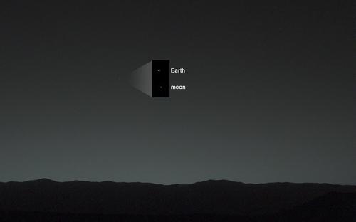 지난 2014년에 포착한 지구와 달 이미지