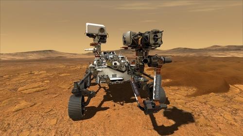 화성 표면의 퍼서비어런스호 상상도