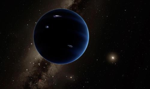 태양계 끝 어둠 속의 제9 행성 상상도