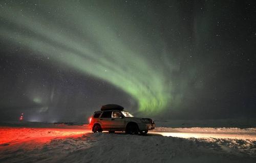 북극권 오로라 현상.