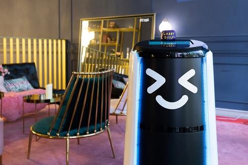 배달로봇 '딜리타워' 호텔 룸서비스 시작