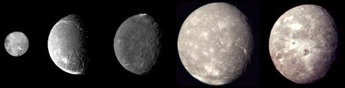 보이저2호가 포착한 천왕성 주요 위성
