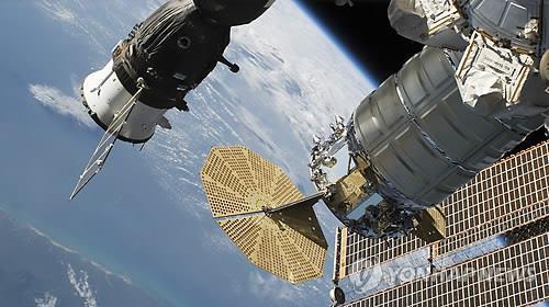 지구 상공의 국제우주정거장