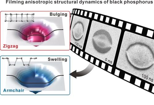 흑린이 빛에 반응해 구조 변형이 나타나는 모습