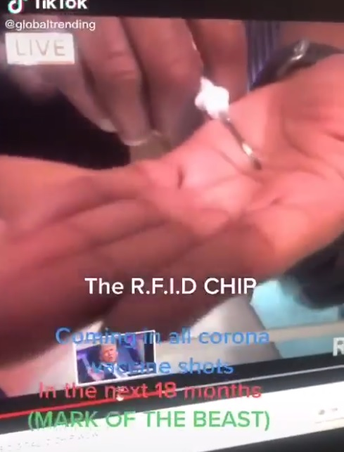 '코로나19 백신에 RFID칩 삽입?'