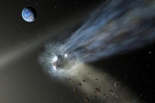 태양계 안쪽으로 진입한 오르트구름발 혜성 상상도