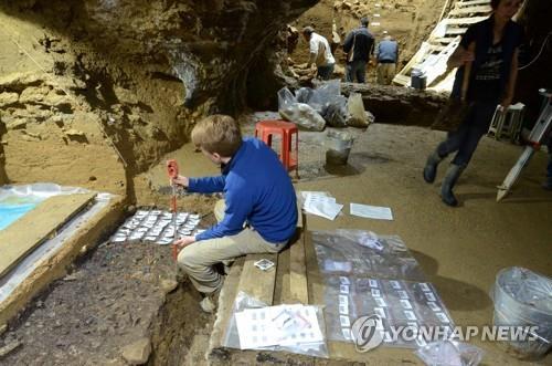 불가리아 바초 키로 동굴 발굴 현장