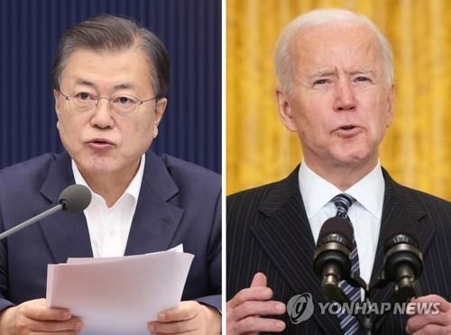 문재인 대통령과 조 바이든 미국 대통령