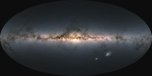 가이아 위성이 관측한 우리 은하 항성의 광도와 색깔을 담은 지도