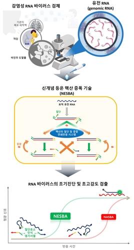등온 핵산 증폭 기술 모식도