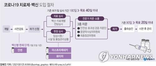 [그래픽] 코로나19 치료제·백신 도입 절차(종합)