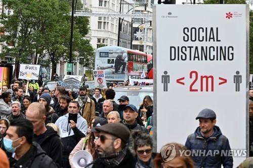 BRITAIN-HEALTH-VIRUS-PROTEST