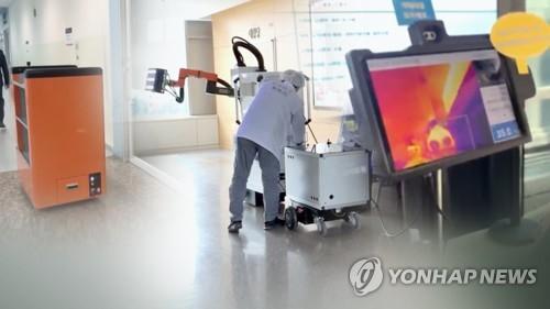 대면접촉 막자…의료폐기물 운반·살균 로봇도 (CG)