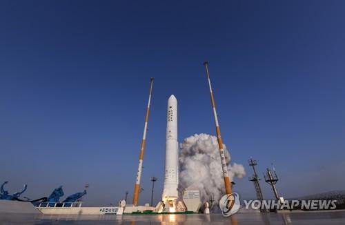 전남 고흥 나로우주센터에서 발사되는 '누리호' 엔진 시험발사체