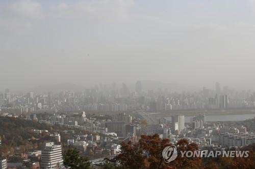 뿌연 서울 하늘
