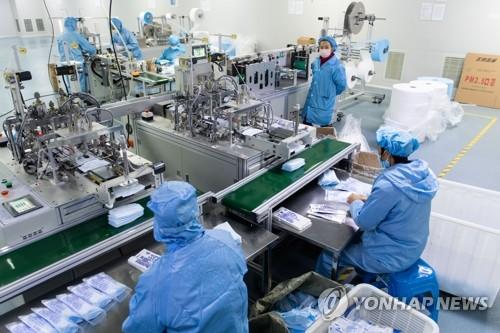 중국의 마스크 공장