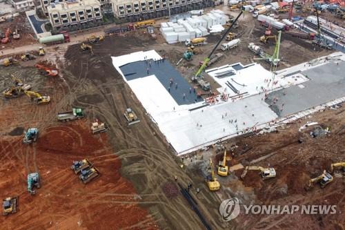 중국 우한에 건설중인 '신종코로나' 응급병원