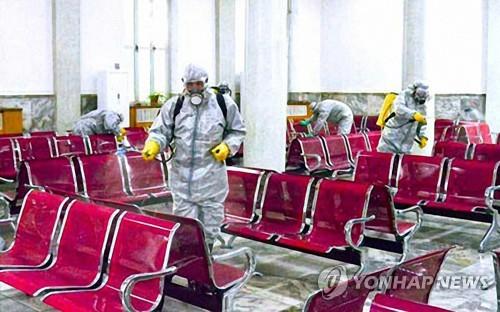 '북한, 공공장소 철저히 소독'