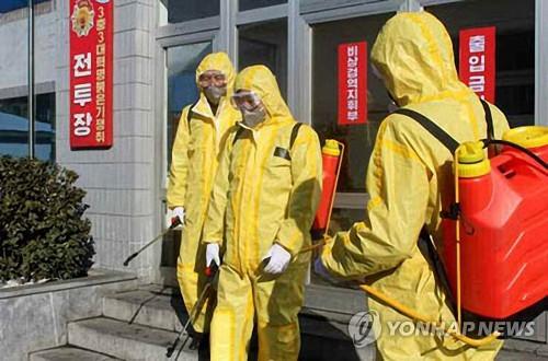 '북한, 신종코로나 방역 위해 소독'