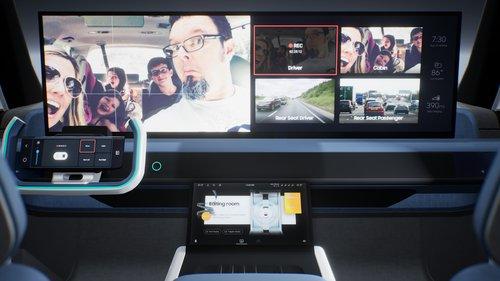 삼성전자 전장부품 자회사 하만 '디지털 콕핏 2021' 공개