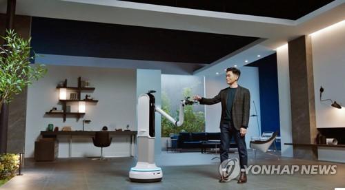 'CES 2021'서 삼성 로봇 시연하는 승현준 삼성리서치 소장