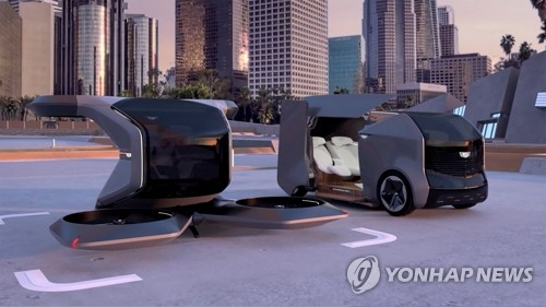 GM이 선보인 미래형 전기차와 수직이착륙무인기